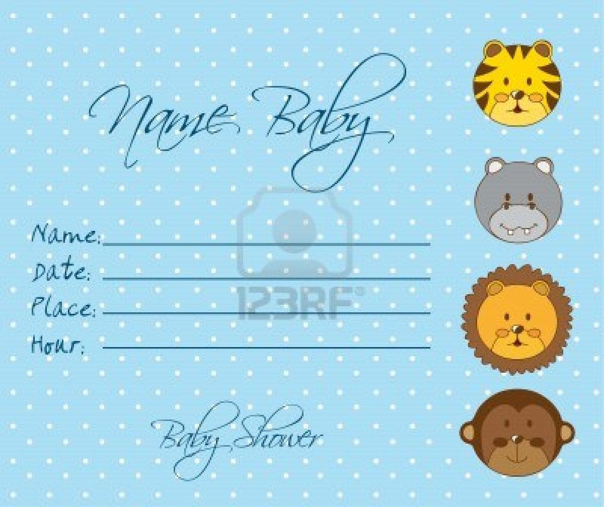 Free Printable Baby Shower Invitations Templates Baby