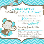 monkey baby shower invitations cheap